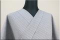 夏のKIPPE(きっぺ) 涼しま よねざわもめん 綿麻 オーダーお仕立て付き ブルーグレー ◆男女兼用◆