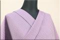夏のKIPPE(きっぺ) 涼しま よねざわもめん 綿麻 オーダーお仕立て付き パープル ◆男女兼用◆