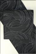 Kimono Factory nono 正絹 八寸名古屋帯 お仕立て付き 黒