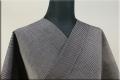 羽州綿紬 木綿着物 オーダーお仕立て付き 縞 紺 No.6 ◆男女兼用◆.