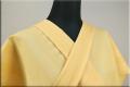 ウール着物 オーダーお仕立て付き 六〇双糸 刺し子 暖かい普段着きもの 黄色 ◆女性にオススメ◆