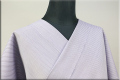ウール着物 オーダーお仕立て付き 六〇双糸 暖かい普段着きもの 紫 ストライプ ◆女性にオススメ◆