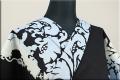 Rumi Rock(ルミロック)浴衣(ゆかた) 綿麻 オーダー仕立て付き ライオン更紗 黒x水色 ◆女性にオススメ◆