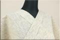 浴衣(ゆかた) 綿麻 オーダー仕立て付き 縦絣 ベージュ ◆男女兼用◆
