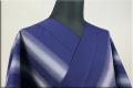 遠州木綿 木綿着物 オーダーお仕立て付き 六◯双糸 雅三ツ縞 紺 ◆男女兼用◆