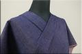 紺仁あやおり 片貝木綿 デニム木綿着物 オーダーお仕立て付き 紫