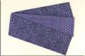Kimono factory nono 半幅帯 綿 グリッター ラメ 草葉 濃紫
