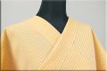 夏のKIPPE(きっぺ) 涼しま よねざわもめん 綿麻 オーダーお仕立て付き オレンジ 18-1 ◆女性にオススメ◆