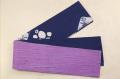 藤井絞 半幅帯 巻き上げ絞り 帽子絞り 綿麻 リバーシブル 青×白