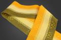 首里 花織 半幅帯 沖縄 綿 黄 黄土