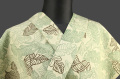栗山工房 吉三郎 木綿着物 オーダーお仕立て付き 葉柄 黄×緑 ◆女性にオススメ◆
