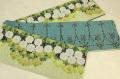 京都小泉 召しませ花 半幅帯 花柄 リバーシブル 薄緑