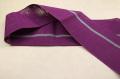 西陣 七野織物 宮岸貞雄謹製 半幅帯 本麻 紫