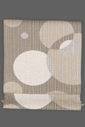 近賢織物 正絹 紙糸 八寸名古屋帯 お仕立て付き  風通織 リバーシブル 茶