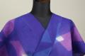 板締め絞浴衣(ゆかた) オーダー仕立て付き 藤井絞  青紫 ◆女性にオススメ◆