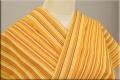 遠州木綿 木綿着物 オーダーお仕立て付き 変わり縞 銀杏ICHO ◆男女兼用◆