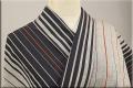 遠州木綿 木綿着物 オーダーお仕立て付き ツートン滝縞 黒  ◆男女兼用◆