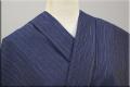 遠州木綿 木綿着物 オーダーお仕立て付き カラフルネップ 紺 ◆男女兼用◆