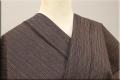 遠州木綿 木綿着物 オーダーお仕立て付き カラフルネップ 茶 ◆男女兼用◆