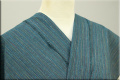 遠州木綿 木綿着物 オーダーお仕立て付き カラフルネップ 緑 ◆男女兼用◆