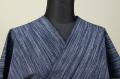 遠州木綿 木綿着物 オーダーお仕立て付き 絣 青 ◆男女兼用◆
