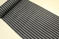 Kimono Factory nono 麻着物 オーダー仕立て付き chrome 黒x灰 ストライプ ◆男女兼用◆