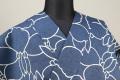 三勝 注染浴衣(ゆかた) 浴衣(ゆかた) オーダー仕立て付き 花 藍白 ◆女性にオススメ◆