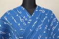 【トリエ】浴衣(ゆかた) オーダー仕立て付き 音符 綿麻 青 ◆女性にオススメ◆