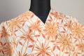 itomi浴衣(ゆかた) オーダー仕立て付き 木綿 花柄 白×橙 ◆女性にオススメ◆