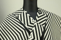 JUNKO KOSHINO浴衣(ゆかた) オーダー仕立て付き 綿50% 麻50% 幾何学模様 白×黒