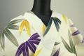 JUNKO KOSHINO浴衣(ゆかた) オーダー仕立て付き セオα カラフル笹柄 薄黄色