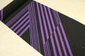 JUNKO KOSHINO浴衣(ゆかた) オーダー仕立て付き セオα 紫×黒 斜ストライプ
