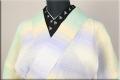 源氏物語 麻きもの 浴衣(ゆかた) オーダー仕立て付き 縞 カラフル ◆女性にオススメ◆