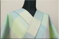 遠州木綿 刺し子風 木綿着物 オーダーお仕立て付き ライトグリーン ◆女性にオススメ◆