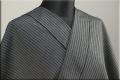 KIPPE(きっぺ) よねざわもめん オーダーお仕立て付き グレー黒縞 ◆男女兼用◆