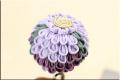 かんざし 縮緬つまみ細工 楠玉かんざし 紫 5222a
