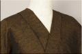 三河木綿 オーダーお仕立付き 洗える普段着着物  厚地 No.14 暗黄赤系 ◆男女兼用◆