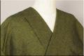 三河木綿 オーダーお仕立付き 洗える普段着着物  厚地 No.16 黄緑系 ◆男女兼用◆