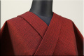 三河木綿 オーダーお仕立付き 洗える普段着着物  厚地 No.18 赤系 ◆男女兼用◆