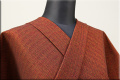 三河木綿 オーダーお仕立付き 洗える普段着着物  厚地 No.20 赤橙系 ◆男女兼用◆