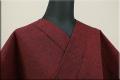 三河木綿 オーダーお仕立付き 洗える普段着着物 ネップ 赤 No.N-01 ◆男女兼用◆