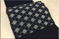 伝統工芸品 弓浜絣(手織り)九寸名古屋帯お仕立て付き 変わり菱 藍