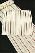 西村織物 博多織 夏物 正絹 紗 八寸名古屋帯 ストライプ お仕立て付き ベージュ