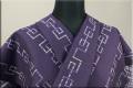 Kimono Factory nono 木綿着物 オーダーお仕立て付き GRITTER(グリッター)雷紋 紫