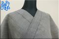 夏着物 小千谷ちぢみ 吉新織物 楊柳 オーダー仕立て付き 無地 グレー ◆男女兼用◆