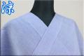 夏着物 小千谷ちぢみ 楊柳 オーダー仕立て付き 杉山織物 チェック 青 ◆男女兼用◆