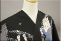 オーダー仕立て付き ポリ浴衣(ゆかた) 和風館 designed by RDS 流れ星 黒 女性にオススメ