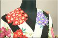 【目玉商品】きもの道楽 浴衣(ゆかた) オーダー仕立て付き 縞に小花 黒 5DY-1 女性にオススメ