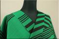 JUNKO KOSHINO浴衣(ゆかた) オーダー仕立て付き セオα 黒緑  冴165 男女兼用