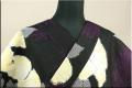 Kimono Factory nono 浴衣(ゆかた) オーダー仕立て付き ハイビスカス 黒 黄